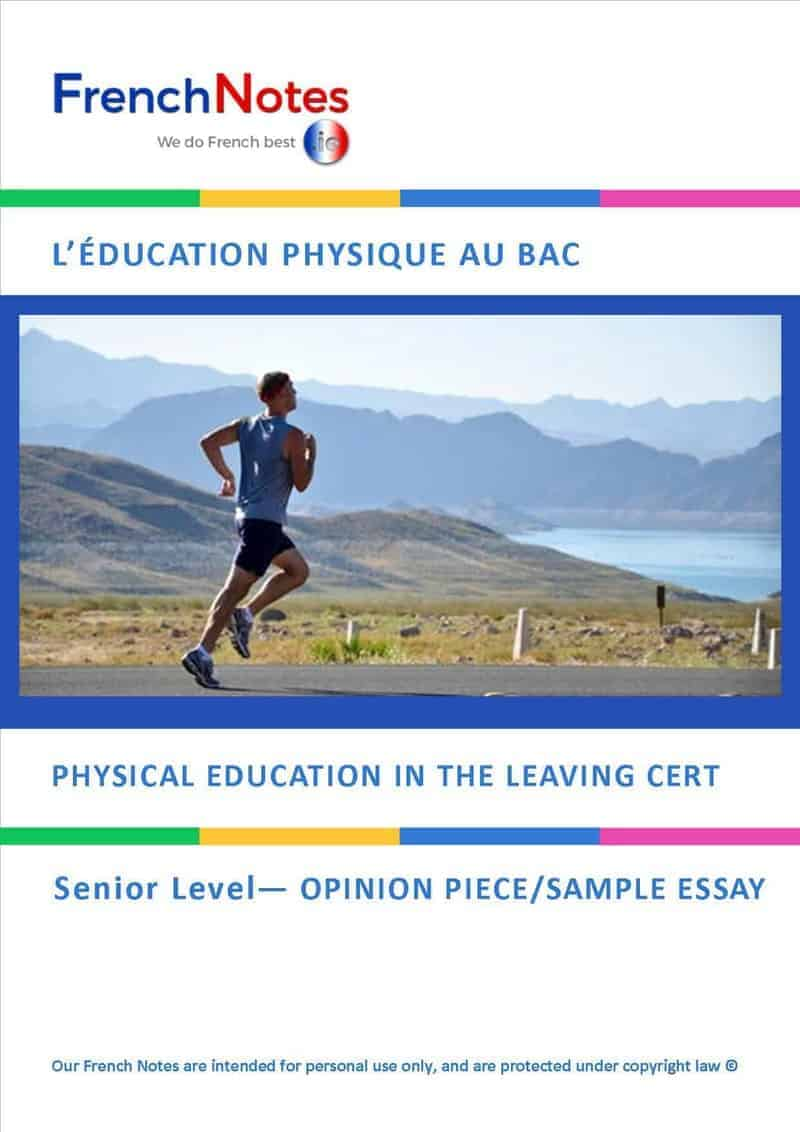 French leaving cert predictions 2018 french notes httpsfrenchnotesbuy now resourcesleaving cert opinion questionspe as a leaving cert subject spiritdancerdesigns Gallery