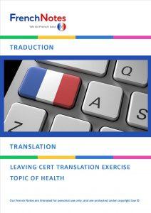 TRANSLATION HEALTH SENTENCES