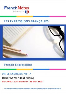 Leaving cert french expression drill