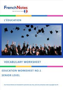 vocabulary worksheet education