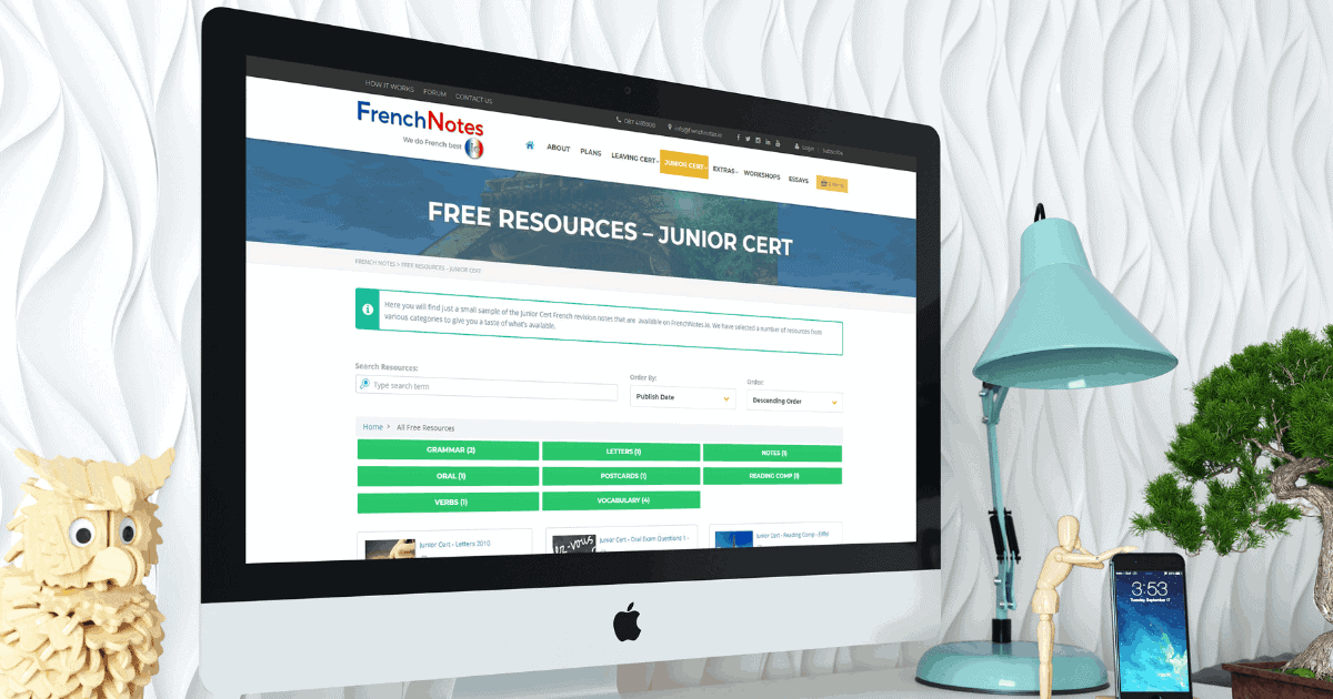 free junior cert french notes free french revision notes. Black Bedroom Furniture Sets. Home Design Ideas
